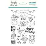 Birthday Blast Photopolymer Clear Stamps - Simple Stories