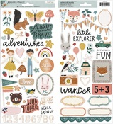 Magical Forest Foiled Sticker Sheet - Crate Paper - PRE ORDER