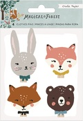 Magical Forest Wood Icon Clothes Pins - Crate Paper - PRE ORDER