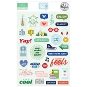 Super Cool Puffy Stickers - Pinkfresh - PRE ORDER