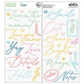 My Favorite Story Puffy Phrase Stickers - Pinkfresh - PRE ORDER