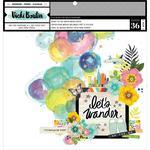 Let's Wander 12 x 12 Ready To Use Mixed Media Paper - Vicki Boutin