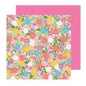 Summer Bouquet Paper - Sun & Fun - Pebbles