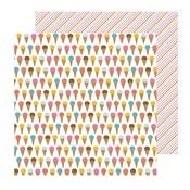 Ice Cream Yum Paper - Sun & Fun - Pebbles
