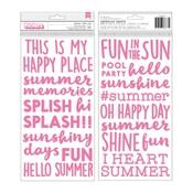 Puffy Phrase Thickers - Sun and Fun - Pebbles - PRE ORDER