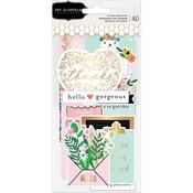 Sentiments Ephemera Cardstock Die-Cuts - Hey, Hello - Pebbles