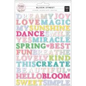 Bloom Street Word Puffy Stickers - Pink Paislee