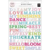 Bloom Street Word Puffy Stickers - Pink Paislee - PRE ORDER
