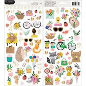Hey, Hello Cardstock Stickers - Pebbles