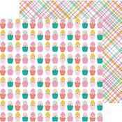 Cupcake Surprise Paper - Hey, Hello - Pebbles - PRE ORDER