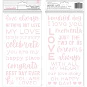Puffy Phrase Thickers - Lovely Moments - Pebbles - PRE ORDER