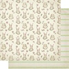 #2 Bunny W/Floral & Dots Paper - Cottontail - Authentique