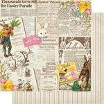 #4 Vintage Newspaper Collage Paper - Cottontail - Authentique