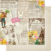 #4 Vintage Newspaper Collage Paper - Cottontail - Authentique