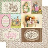 "#7 Cut-Aparts 4""X6"" Paper - Cottontail - Authentique"