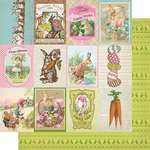 "#8  Cut-Aparts 3""X4"" Paper - Cottontail - Authentique"