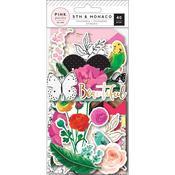 5th & Monaco Ephemera Cardstock Die-Cuts - Pink Paislee