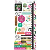 5th & Monaco Cardstock Stickers - Pink Paislee