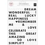 Words Puffy Stickers - Pink Paislee - PRE ORDER