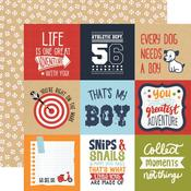 "Journaling 4""X4"" Cards Paper - All Boy - Echo Park"