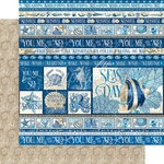 Corfu Paper - Ocean Blue - Graphic 45 - PRE ORDER