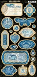 Ocean Blue Chipboard - Graphic 45 - PRE ORDER