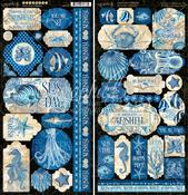 Ocean Blue Stickers - Graphic 45