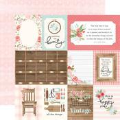 "Journaling 3""X4"" Cards Paper - Farmhouse Market - Carta Bella"
