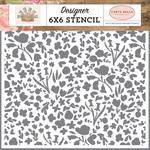 Garden Bloom Stencil - Farmhouse Market - Carta Bella