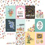 """Journaling 3""""X4"""" Cards  Paper - Oh Happy Day Spring - Carta Bella"""