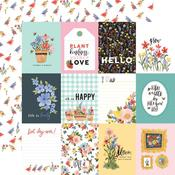 "Journaling 3""X4"" Cards  Paper - Oh Happy Day Spring - Carta Bella"