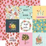"""Journaling 4""""X4"""" Cards Paper - Oh Happy Day Spring - Carta Bella"""