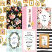 """Journaling 4""""X6"""" Cards Paper - Oh Happy Day Spring - Carta Bella"""