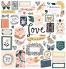 Fresh Bouquet 12 x 12 Chipboard Stickers - Crate Paper