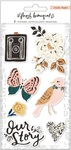 Fresh Bouquet Embossed Puffy Stickers - Crate Paper - PRE ORDER