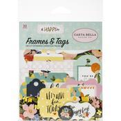 Oh Happy Day Spring Frames & Tags Ephemera - Carta Bella