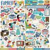 Family Night Elements Stickers - Carta Bella