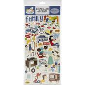 Family Night Chipboard Accents - Carta Bella - PRE ORDER
