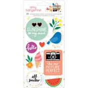 Picnic In The Park Icon Embossed Puffy Stickers - Amy Tangerine - PRE ORDER