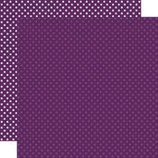 Purple Paper - Dots & Stripes - Echo Park