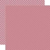 Mauve Paper - Dots & Stripes - Echo Park