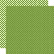 Leaf Green Paper - Dots & Stripes - Echo Park - PRE ORDER