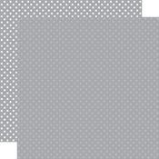 Grey Paper - Dots & Stripes - Echo Park