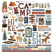 Camp Happy Bear Element Stickers - Photoplay
