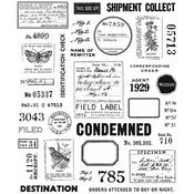 Field Notes Tim Holtz Cling Stamps - PRE ORDER