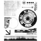 Glitch 1 Tim Holtz Cling Stamps - PRE ORDER
