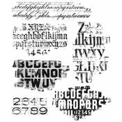 Faded Type Tim Holtz Cling Stamps - PRE ORDER