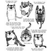 Snarky Cat Tim Holtz Cling Stamps - PRE ORDER