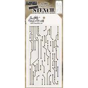 Circuit -Layered Tim Holtz Layered Stencil