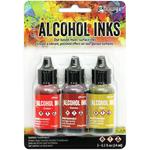 Orange/Yellow Spectrum Alcohol Inks - Tim Holtz